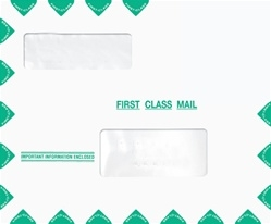 Tax Return Mailing Envelope with Alternate Windows