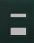 Double Window Tax Return Folder - Side Staple Loose Pocket (Emerald Green)