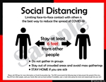 Social Distancing Poster - 6 Feet Apart