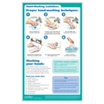 "Hand Washing Poster, 8-1/2"" x 14"""