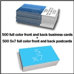 Business Cards and Postcards Combo