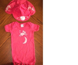 You may have this design and onesie in any color you prefer.  Hat sold separate.