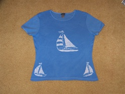 Sail Away cotton ribbed T