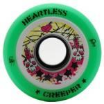 Heartless Derby Skate Wheels Creeper Green - 62mm x 34mm x 90a set of four