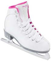 Riedell 18 Girls' Sparkle Pink Ice Skates