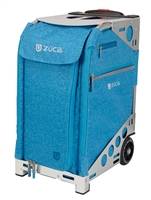 ZUCA Pro Travel Bag Heather Aqua/Silver