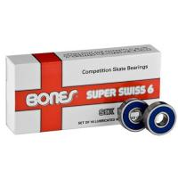 Bones Super Swiss 6 Ball skate bearings 608 - 16 pack