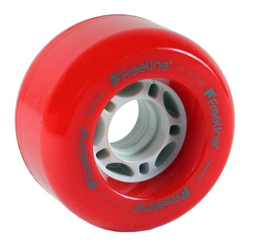 Freeline Skate Wheels 2 Pack - Red 72mm