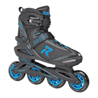 Roces Icon Men's Inline Skate - Black/Cyan