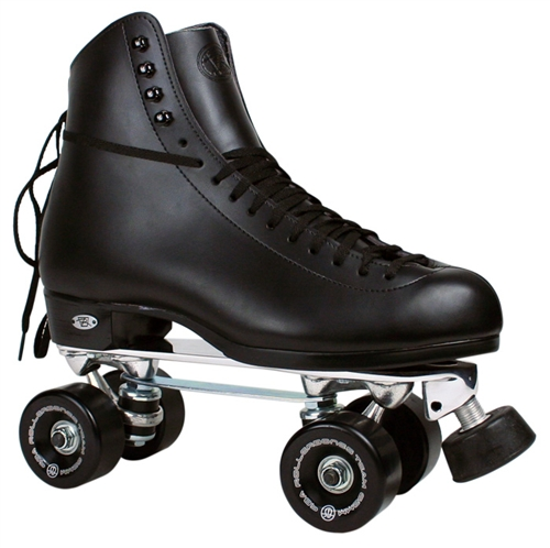 Riedell Roller Skates Black Boot Century 120 Powell Rollerbones