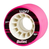 Roller Skate Wheels Radar Bullet 59mm X 38mm - 8 set