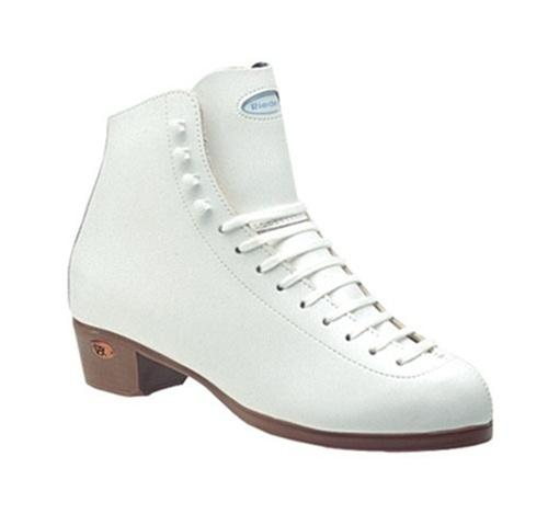 Riedell 21 Youth white Ice Figure Skate boots