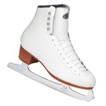 Riedell 29 TS Junior White Ice Skates Quest Onyx