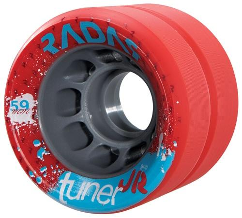 Radar Roller Skate Wheels Tuner JR 59mm X 43mm set of 8
