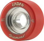 Diamond Roller skate wheels Red