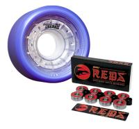 Reckless Derby Skate Wheels IKON w/Reds Bearings