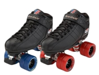 Riedell R3 Demon Speed Roller Skates - Black