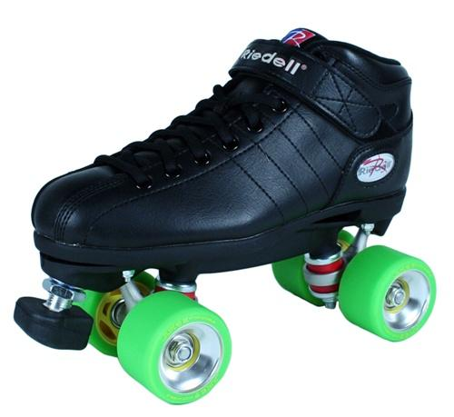 Riedell R3 JUKE ALLOY Quad Speed Roller Skates Black