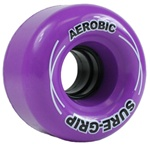 Sure-grip Aerobic 62mm roller skate wheels in assorted colors