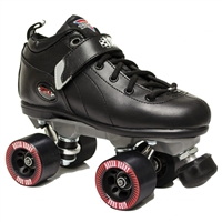 Sure-Grip Boxer Quad Speed Roller Skates BLACK