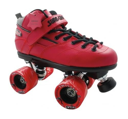 Sure-Grip Rebel Twister Roller Skates - Red Boot