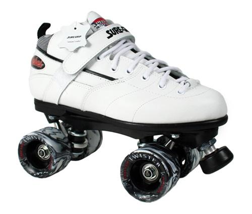 Sure-Grip Rebel Twister Roller Skates - White Boot