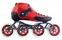 Luigino Red Strut Inline Racing Skates