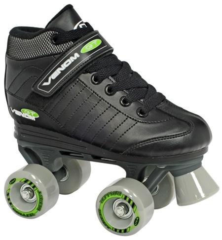 Roller Derby Venom Black and Green with Grey Wheels