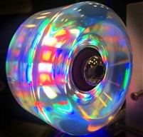 Volcanic Dazzle Light Up Roller Skate Wheels - 58mm