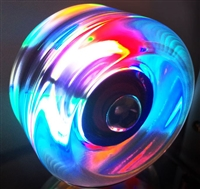 Volcanic Dazzle Light Up Roller Skate Wheels - 62mm Purple