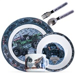 Monster Jam 5 Piece Dinnerware Set