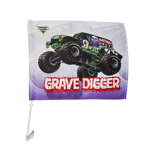 Grave Digger Car Flag
