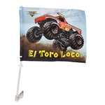 El Toro Loco Car Flag