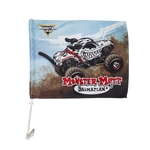 Monster Mutt Dalmatian Car Flag