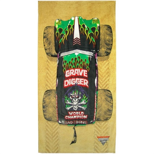 Grave Digger Roof Beach Towel