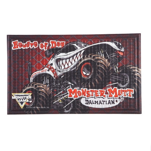 Monster Mutt Dalmatian Door Mat