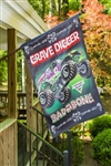 Grave Digger House Flag