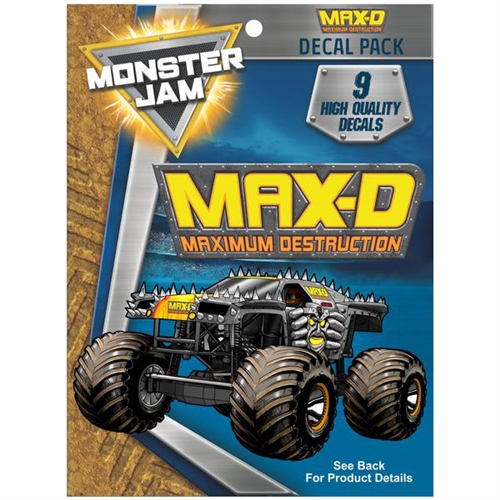 Monster Jam Max D Trucks Decal Pack