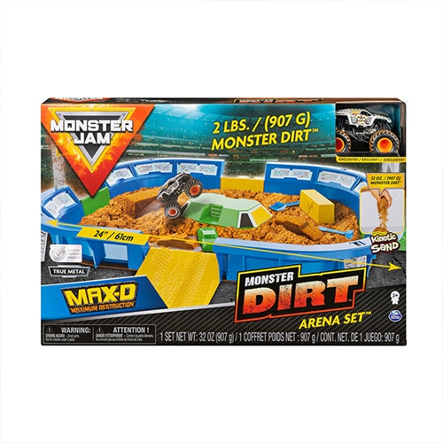 Monster Dirt Arena Set with 1:64 Max-D