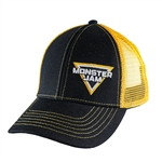 Yellow Mesh Monster Jam Cap