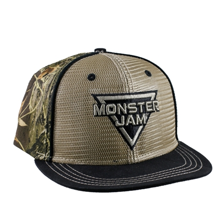 Monster Jam Camo Back Cap