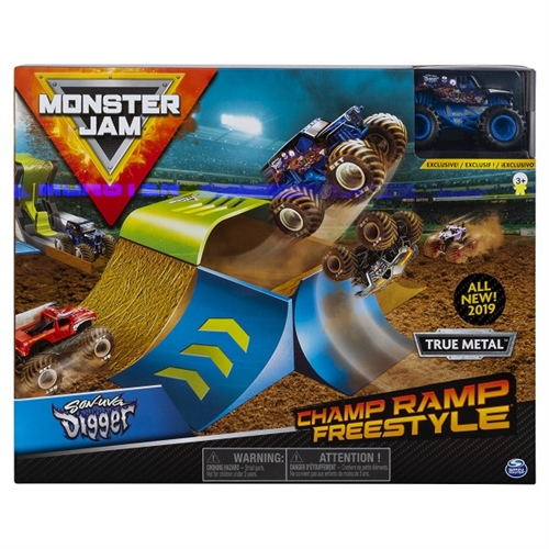 Champ Ramp Freestyle Playset with 1:64 Son-Uva Digger