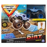 Monster Dirt Starter Set with 1:64 Blue Thunder