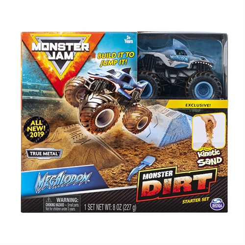 Monster Dirt Starter Set with 1:64 Megalodon