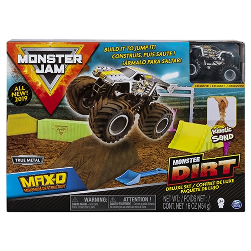 Monster Dirt Deluxe Set with 1:64 Max-D