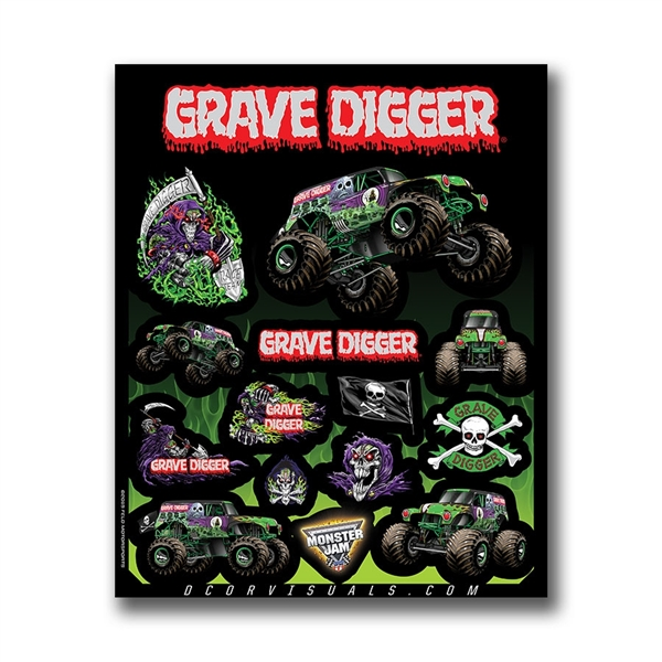 Grave Digger Decal Sheet