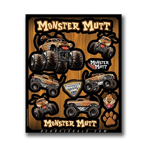 Monster Mutt Decal Sheet