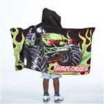 Grave Digger Kids Hooded Towel