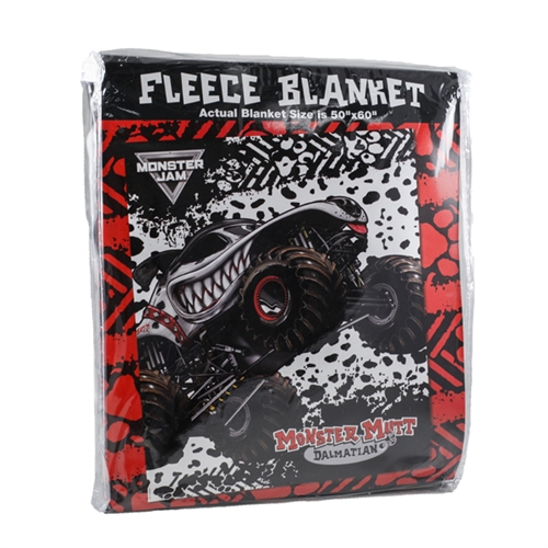 Monster Mutt Dalmatian Fleece Blanket