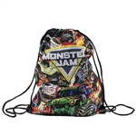 Monster Jam Fire Drawstring Bag
